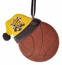 Wichita State Shockers Basketball With Santa Hat Christmas Ornament