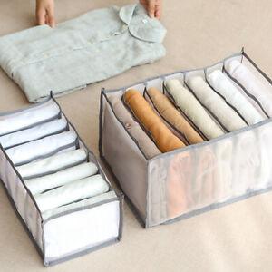 Folding Clothes Organizer Box for Jeans T-shirt Legging Closet Drawer Organizers