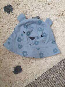 Next Baby Summer Bucket Hat Leopard Animal Ears Size 3-6 Months