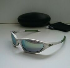 OAKLEY XX TWENTY FMJ 5.56 Silver Emerald Iridium Sunglasses splice plate minute