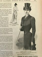 MODE ILLUSTREE SEWING PATTERN July 28 ,1901 RIDING COSTUME, Corset, dress ...