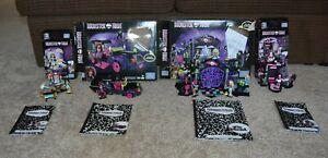 Mega Bloks Monster High Lot of 4 Building Sets Complete With Boxes