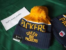 Green Bay Packers Acme New Era knit pom hat beanie NWT OnField AUTHENTIC 2015-16