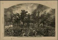 New York Riots Burning Colored Orphan Asylum 1863 great old print for display