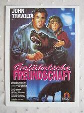 Filmplakatkarte  videoplus  Gefährliche Freundschaft  John Travolta,Ellie Raab