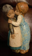 Lladro 2086 The Little Kiss Mint Condition Gres Finish No Box! Great Gift L@k!