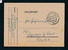 40547) Postautomation PLZ K2 (1) Berlin SW11am Feldpost 30.1.45 > Stalag IXA