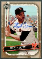 Monte Irvin #70 signed autograph auto 2005 Upper Deck Classics Baseball Card