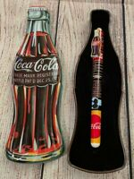 1996 Coca-Cola Bottle Shaped Tin with Pen - Coke/Pop Collectible, Advertisement