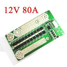 12V 80A Battery Protection BMS Board w/ Balance for 4S LiFePo4 Batterie Cell CAR