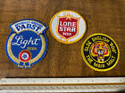 """""""PABST BLUE RIBBON BEER"""" """"LONE STAR BEER"""" and """"OLDE ENGLISH 800 BEER"""" Patches."""