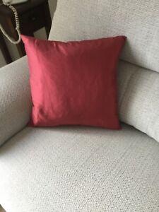 """Silk Cushion in Red 16"""" x 16"""". BNWOT"""
