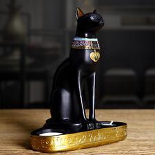 Egyptian Cat Craft Candlestick Candle Holder Resin Statue Cat Goddess FiguriFCA