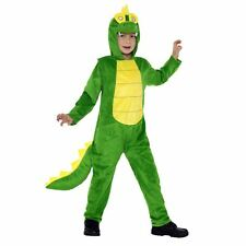 Kids Boys Girls Wild Animal Crocodile Jumpsuit Fancy Dress Book Day Pan Costume