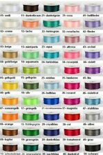 (0,08 EUR/m) Satinband, 100 Yards-Rolle, 3 mm breit, Double Face in 50 Farben