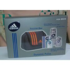 Adidas Dynamic Pulse for Men Toiletry Bag EDT 3.4oz+Shower Gel 3.4oz + Deo 150