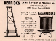 Early Ad Union Elevator And Machine Co Derricks Salamanders