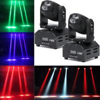 2PCS 60W LED Mini Beam Stage Lighting Moving Head Lights DMX512 Party DJ Light