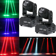 2PCS 60W LED Mini Beam Stage Lighting Moving Head Lights DMX512 Party DJ Light