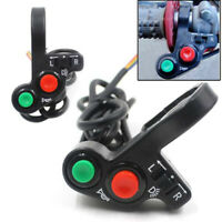 """7/8"""" Motorcycle Handlebar Switch Engine Electric Start Horn Light Push Button DD"""