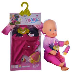 Zapf 824818 Baby Born Puppenkleidung Schlafanzug 43 cm Nachtlicht Outfit Rosa