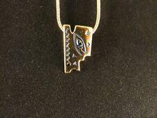 Ketten Anhänger 24 Karat Vergoldet Hieroglyphen Deluxe Strass Halskette Auge