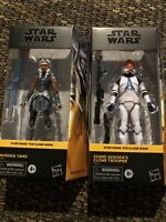 Ahsoka Tano Black Series 332nd Clone Trooper Lot, Clone Wars, Mandalorian VHTF!!