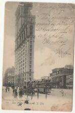 Real Photo Postcard For TheTmes Building, New York City 1906