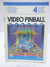 Anleitung - Handbuch - Bedienungsanleitung Atari - Video Pinball