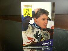 Jeff Burton #8 Raybestos Brakes Traks Premium 1994 Card #8 ROOKIE YEAR