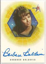 Star Trek 35th Anniversary TOS Autograph Card A26 Barbara Baldavin Ensign Martin