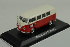 VW Volkswagen T1 Bulli Bus Kombi rot cream 1:43 Norev