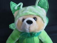 TAN TEDDY BEAR BUTTERFLY COSTUME GREEN WINGS SKM CALIFORNIA PLUSH STUFFED ANIMAL