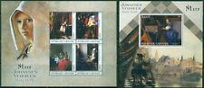 Art Johannes Vermeer Paintings Middle Ages Netherlands Gabon MNH stamp set