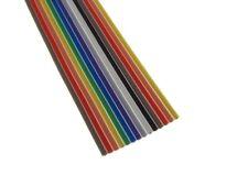 10Ft 14P Multi-Color Flat Ribbon Zippable Cables 14 Conductors 1.27mm