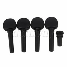 Violin Tuners Tuning Pegs Endpin 4/4 Black String Instrument Part