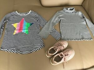 Gifs girls Tops by CYRILLUS -Paris ,Cotton on kids size 6,Shoes by CLARKS