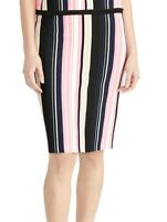 Rachel Rachel Roy Womens Skirt Pink Size Small S Straight Striped $99- 434