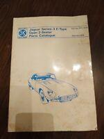 British Leyland Factory Parts Manual Jaguar XKE Series III Catalogue RTC9014