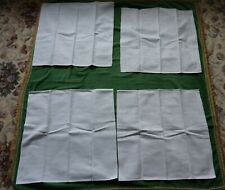 More details for napkins - matching set of four- white cotton damask - 18