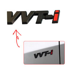 3D Black/Red VVTI VVT-I Sticker Car SUV Auto Trunk Badge Side Fender Tail Emblem