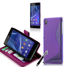 PURPEL Wallet 4in1 Accessory Bundle Kit Case Cover For SONY XPERIA Z3 Compact