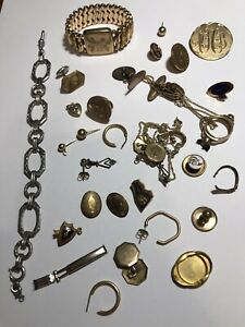 Vintage Gold Filled Jewelry Lot 100 Grams for Scrap
