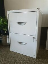 2 Drawer Steel File Cabinet lockable- white