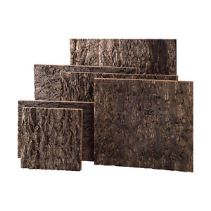 Reptile Cork Terrarium Backgrounds - Real Cork Bark - Sizes are Approximate