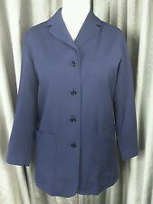 Laura Ashley Lundy Island 100% Wool Navy Blazer Jacket UK12 EU40