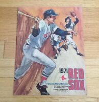 Boston Red Sox Fenway Park Official Vintage 1971 Program Scorecard Magazine