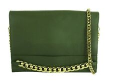 "BCBGMAXAZRIA ""ZARINA"" Green Leather Convertible Chain wallet/X-Body Bag $228.00"