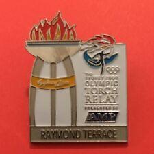 RAYMOND TERRACE Sydney 2000 Olympic Torch Relay AMP sponsor pin
