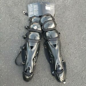 "NEW Adidas Performance Pro Series 2.0 Baseball Leg Guard 17"" Black Shin Guards"